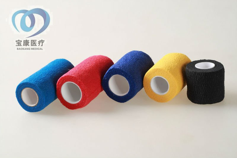 vet wrap waterproof colored cohesive elastic bandage