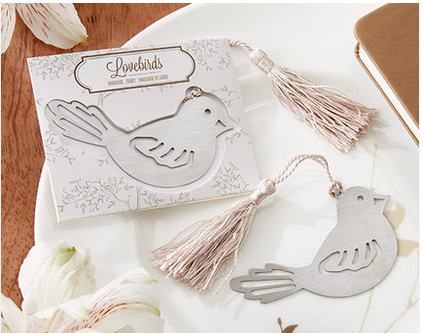 Love bird metal bookmark wedding favor door gift craft