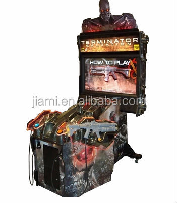 "Terminator Salvation 4 - 47""LCD coin operated arcade gun shooting simulator game machine"