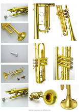 musical instruments High quality and best gold lacquer trumpet