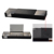 Black leather rectangular stationery holder for student