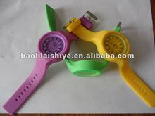 Free sample Latest Round Face Silicone Jelly Watch