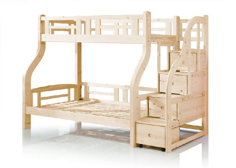 enfants bois massif lit superpos avec tiroir escaliers. Black Bedroom Furniture Sets. Home Design Ideas