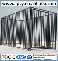 Black portable pet enclosures with fight guard foldable pickets welded strong animals houses European fence panels dog kennels
