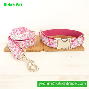 WY196 Pink High Quality Pet Dog Collar and Leash Snap Hook