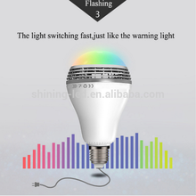 4 in one RGBW Light 7W Bluetooth Smart LED Bulb RGB Remote Control with Speaker Music