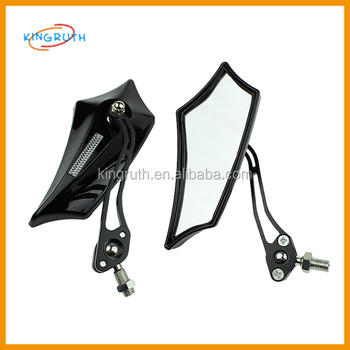 Black universal cnc motorcycle mirror