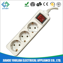 European CE/GS/ROHS electrical schuko socket with switch