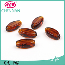 wholesale high quality handmade brown crystal glass beads bijouterie china