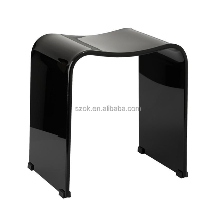Plastic Bathroom Acrylic Vanity Stool Perspex Shower Stool