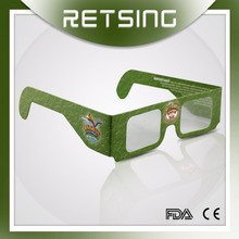 Paper Chromadepth Clear Lens 3D Glasses, Cardboard Glasses