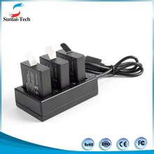 New arrivel Three ports battery charger for GoPro hero 5 with USB cable with factory price