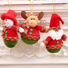 Christmas tree decoration small hanging ornaments fabric santa claus snowman