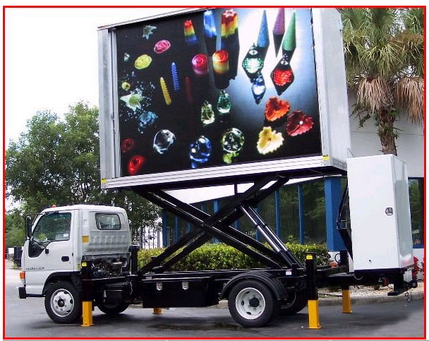 Mobile outdoor truck led display, truck mobile video led advertising billboard P7.62/P8/P10/P16/P20...