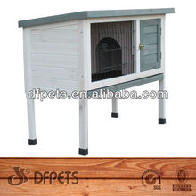 Single Wooden Rabbit Hutch on Legs DFR062