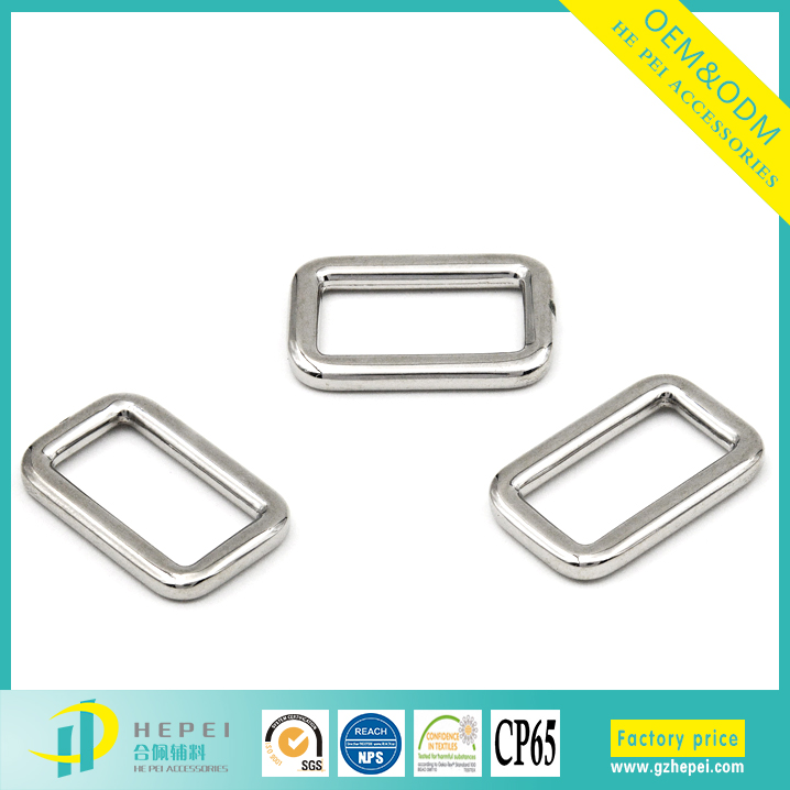 High end metal accessories for belt,western square ring clothing buckle