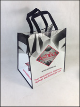 wholesale promotional printed pp non-woven shopping tote bag/full color non woven bag