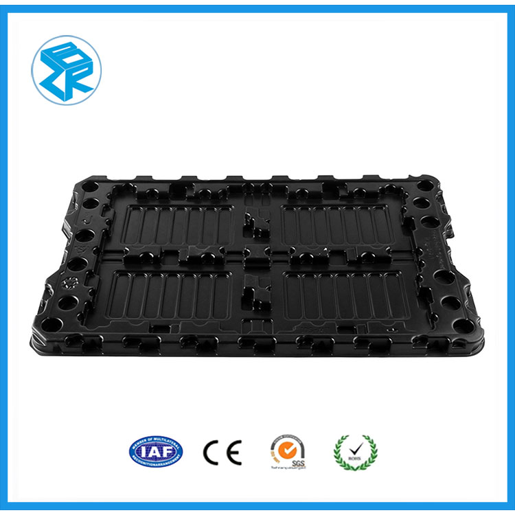Eco-Friendly Electronic Components Packing Conductive Esd Tray For Pcb
