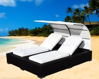 Swimming Pool Lounger Chair Outdoor Double Bed