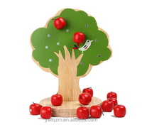 Nontoxic paint wooden educatioanl apple tree toy for kids