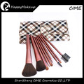 Best Price Makeup Brushes Cosmetic Market 9pcs Synthetic Hair Plaid Case Free Samples
