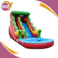 Inflatable Rainbow Splash Water Slide