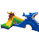 Giant shark and dragon floating inflatable promotion summer water games for sale