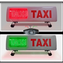 Taxi Roof Waterproof IP65 Plastic Case Red Green Adjustable Cigar Lighter Power LED Taxi Light