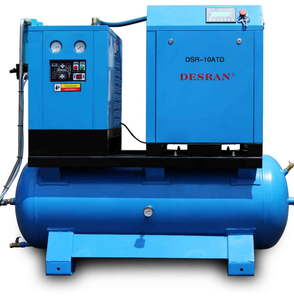 OEM Factory 500 liter Tank Mounted Screw Air Compressor With Air Dryer