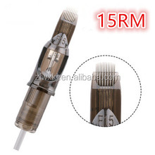 Rotary Tattoo Microblading Supplier High Quality Eo Gas Sterilized Tattoo Needle Tip/Eyebrow Tattoo Needle Cartridge 1215RM
