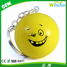 Winho Smiley Face Stress Ball Keychains Reliever