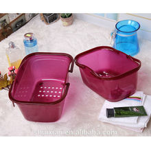 Walmart supplier Thicken Plastic basket Laundry basket Shopping supermarket basket with handle
