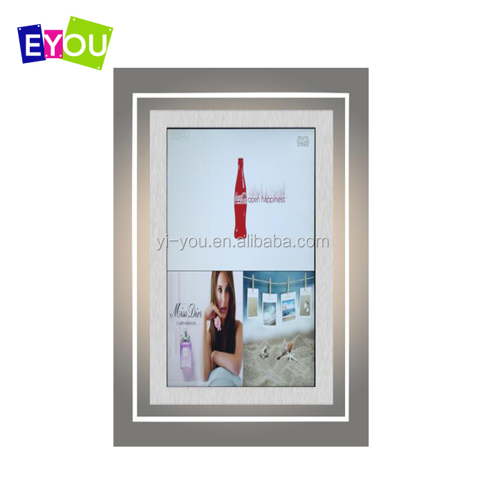Slim acrylic crystal frame real estate agent window led display