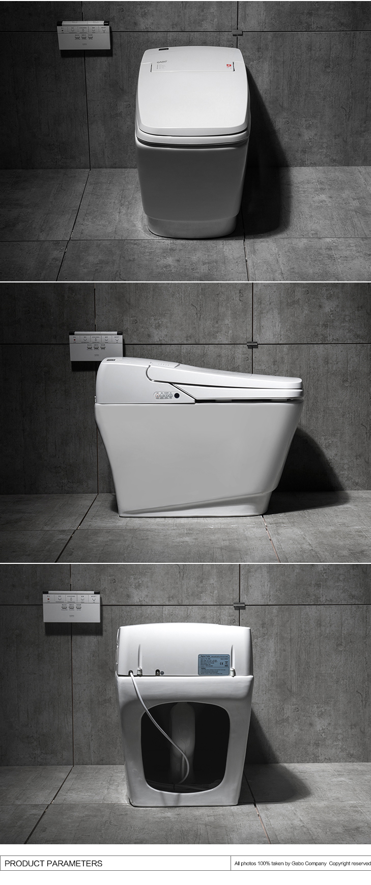 Contemporary High-end Floor Stand Porcelain Fowler Toilets