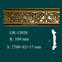 Luxury Hand Carved Polyurethane Cornice Corner for Ceiling and Wall