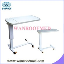 BDT001C Hospital Over Bed Table with bottle holder on table