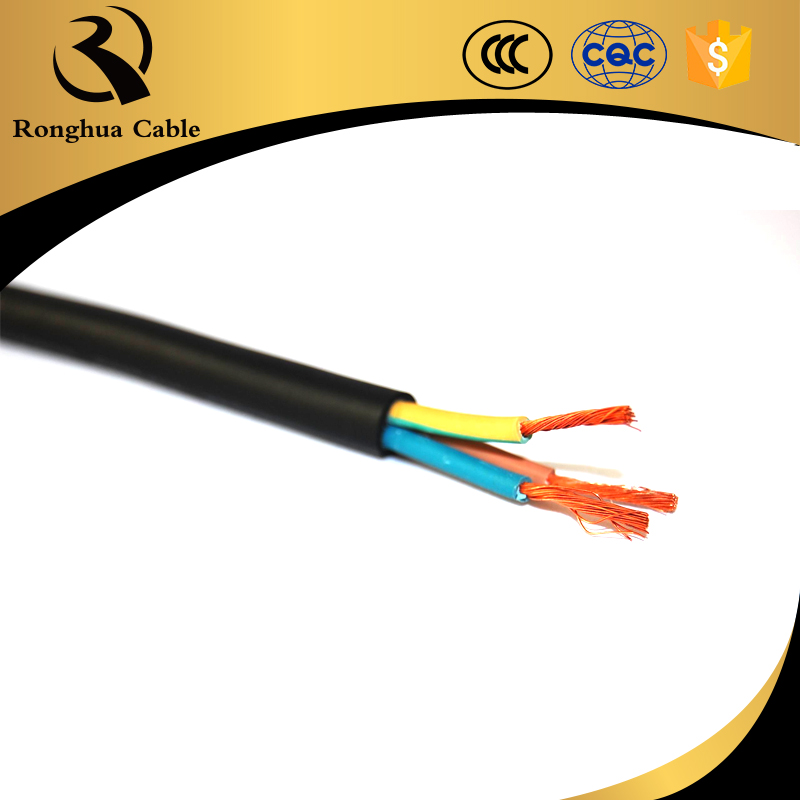 650mcm aac 4 core double pvc rubber flat cable submersible pump cables