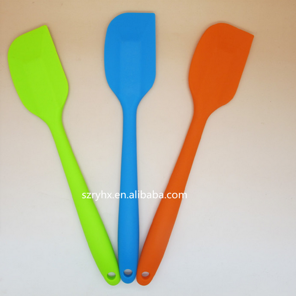 2015 newest FDA Food Grade BPA Free Silicon Spatula,clear handle of silicone spatula set,custom