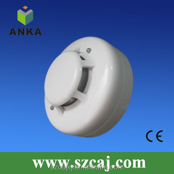 New 6 wire photoelectric mini smoke detector 24V for building project