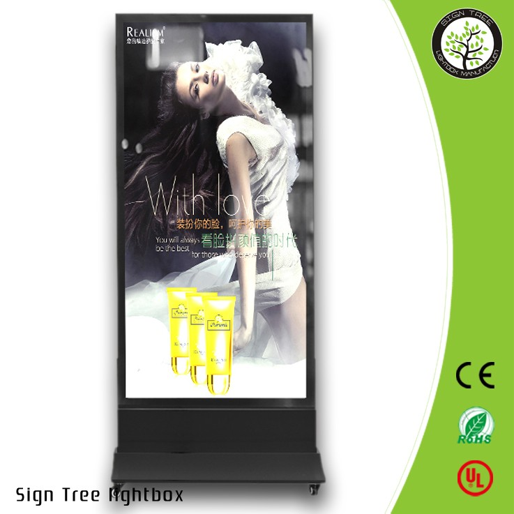 Double Side Aluminium Led Poster Frame Outdoor Advertisment Display LED Scrolling Free Standing Light Box