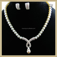 ZL1016 Cultured Pearl and Grey Pearls wholesale necklace earring jewelry set