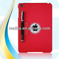 Flip leather case for ipad mini,For ipad mini ultra thin pu+pc case hot selling with stylus pen
