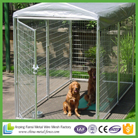 china supplier hot dip galvanized chain link cages dog kennels
