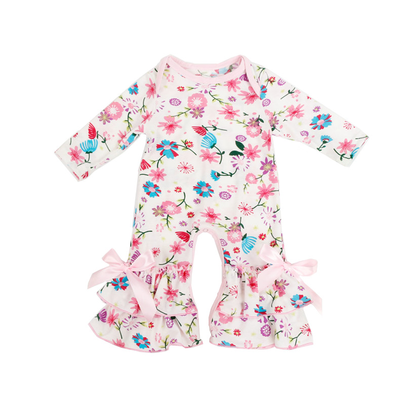 54787a211b Boutique Infant Clothing Jumpsuit Baby Icing Ruffled Leg Rompers ...