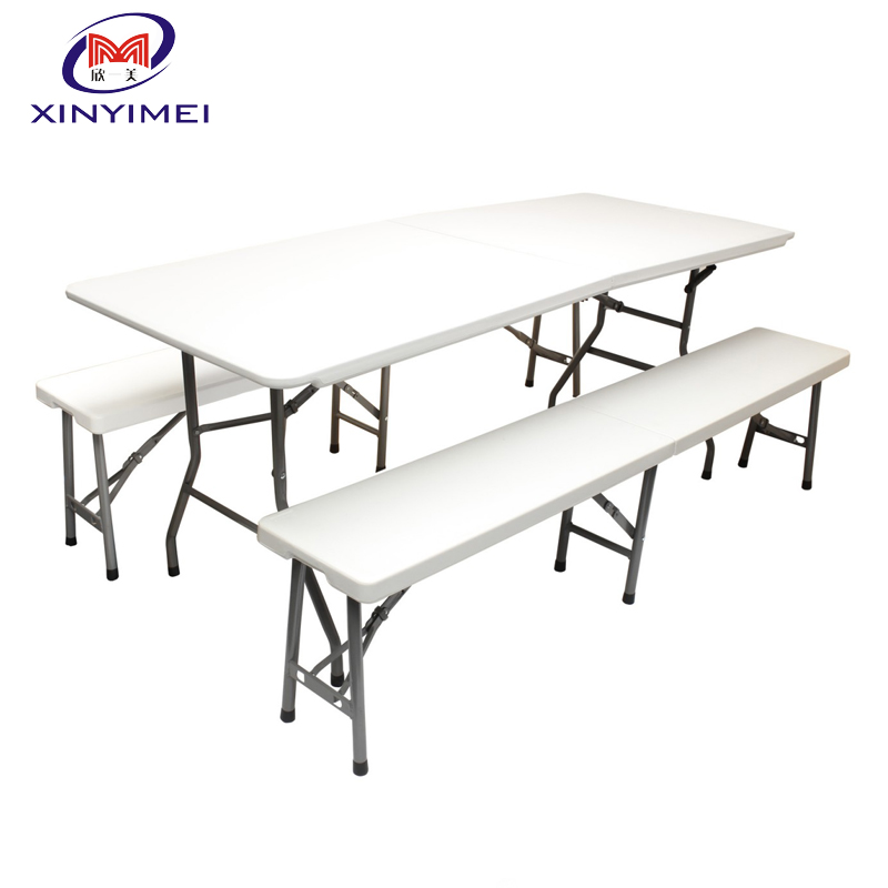 Strong Plastic Folding Bench Table