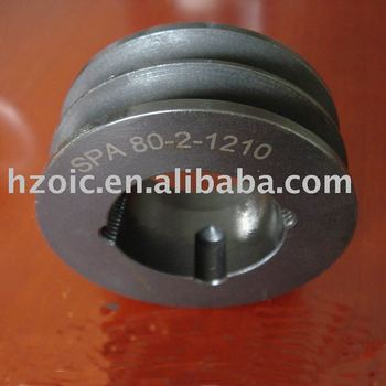 groove v belt cast iron pulley