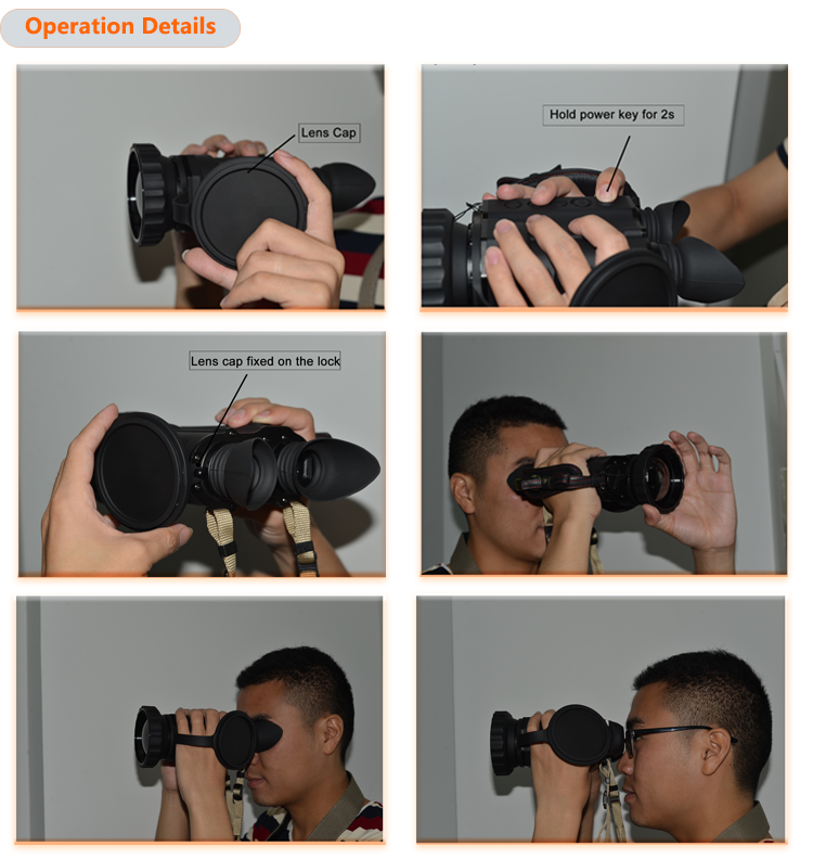 Thermal imaging binocular with resolution 640*480/17um