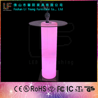 2014 Hot Sale LED Outdoor High Top Bar Table LGL-3011