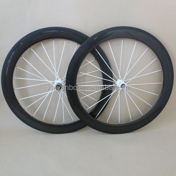 50mm carbon tubular clincher wheels 650C 23 wide Bicycle Wheelset