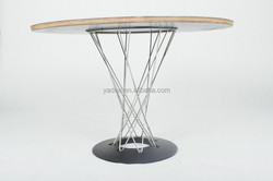 China factory stainless steel legs Isamu japanese dining table for sale